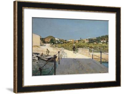 Bridge to Island of Elba, 1888-Telemaco Signorini-Framed Giclee Print