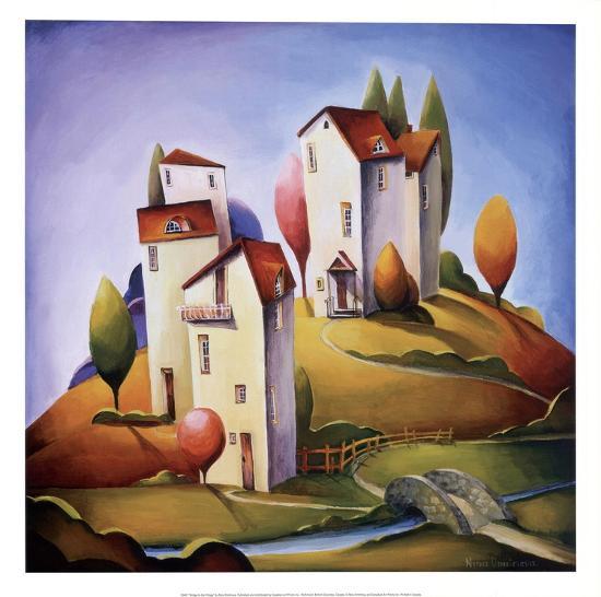Bridge to the Village-Nina Dmitrieva-Art Print