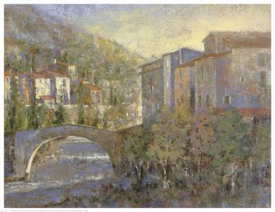 Bridge Village-Michael Longo-Art Print