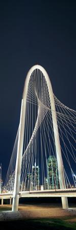 Bridge with Skyscrapers in the Background, Margaret Hunt Hill Bridge, Dallas, Texas, Usa