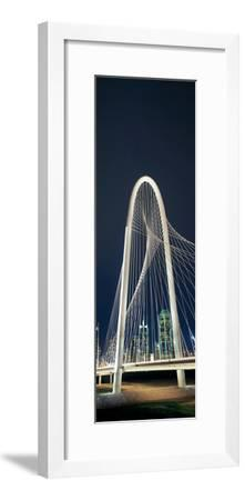 Bridge with Skyscrapers in the Background, Margaret Hunt Hill Bridge, Dallas, Texas, Usa--Framed Photographic Print