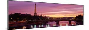 Bridge with the Eiffel Tower in the Background, Pont Alexandre Iii, Seine River, Paris, Ile-De-F...