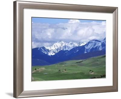 Bridger Mountains, Named for Jim Bridger, Along the Bozeman Pass on the Bozeman Trail, Montana--Framed Photographic Print