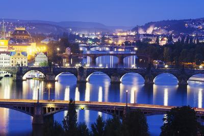 Bridges on the Vltava River, UNESCO World Heritage Site, Prague, Czech Republic, Europe-Christian Kober-Photographic Print