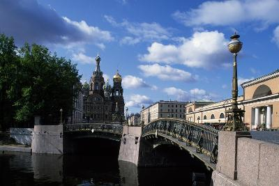 Bridges over Moika River and Cathedral of Resurrection of Christ--Giclee Print