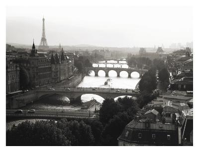 Bridges over the Seine river, Paris-Michel Setboun-Art Print