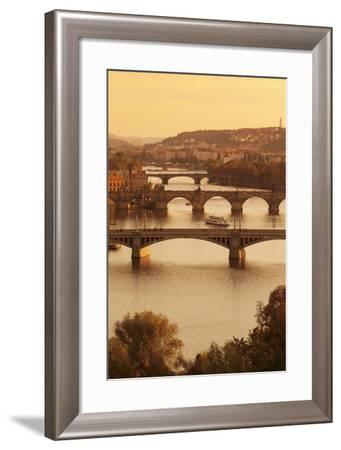 Bridges over the Vltava River Including Charles Bridge-Markus-Framed Photographic Print