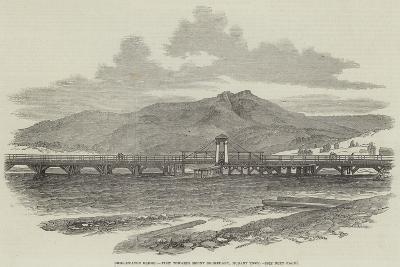 Bridgewater Bridge, View Towards Mount Dromedary, Hobart Town--Giclee Print