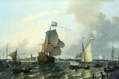 """""""Brielle"""" William III, Embarkation to England,1688-Ludolf Backhuysen-Giclee Print"""