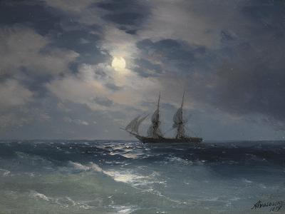 Brig Mercury-Ivan Konstantinovich Aivazovsky-Giclee Print