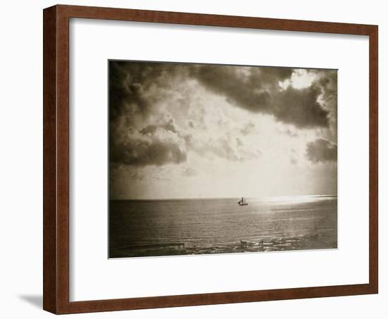 Brig on the Water, 1856-Gustave Le Gray-Framed Giclee Print