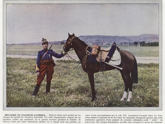 Brigadier De Chasseurs D'Afrique-Jules Gervais-Courtellemont-Photographic Print