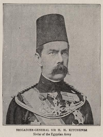 Brigadier-General Sir H H Kitchener--Giclee Print