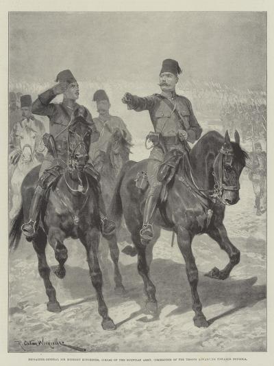 Brigadier-General Sir Herbert Kitchener-Richard Caton Woodville II-Giclee Print