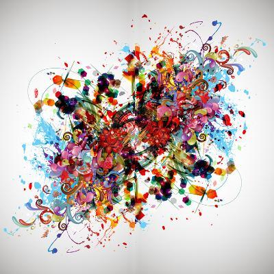 Bright Abstract Background-reznik_val-Art Print