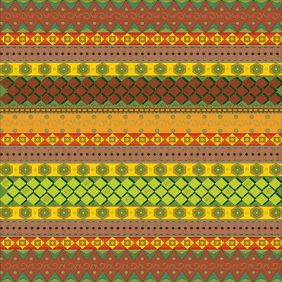 Bright Aztec Pattern-Yaroslavna-Art Print
