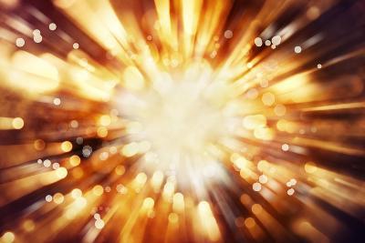 Bright Blast Of Light In Space Background-STILLFX-Art Print
