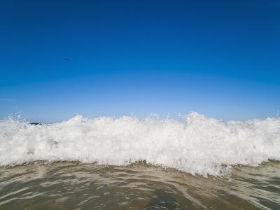 Bright Blue Sky and Waves Breaking at Surfers Paradise Beach, Gold Coast, Queensland, Australia-Matthew Williams-Ellis-Photographic Print
