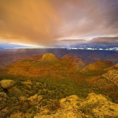 Bright Clouds Over Grand Canyon-John Eastcott & Yva Momatiuk-Photographic Print