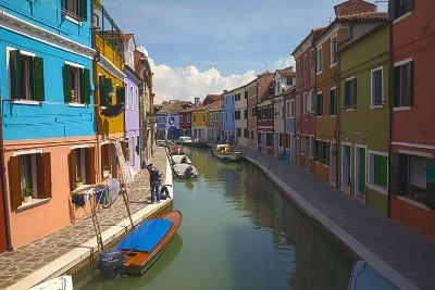 Bright Colored Homes Along the Canal, Burano, Italy-Terry Eggers-Photographic Print