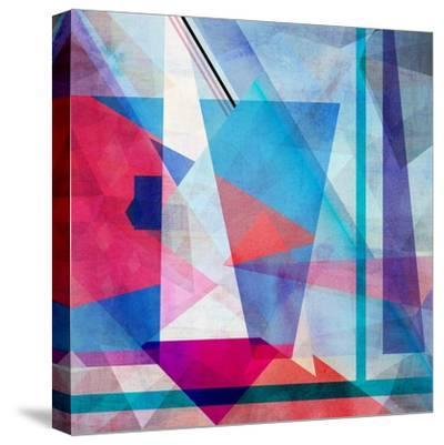 Bright Colorful Abstract Background of the Various Elements on Watercolor Background-Tanor-Stretched Canvas Print