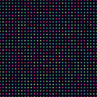 Bright Colorful Dots on a Dark Background- Leone_V-Art Print