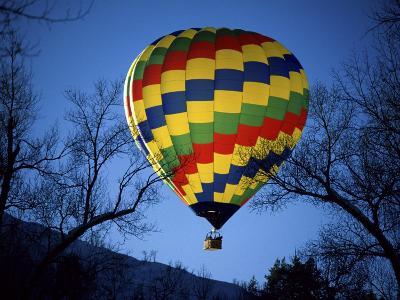 Bright, Colorful Hot Air Ballooon--Photographic Print
