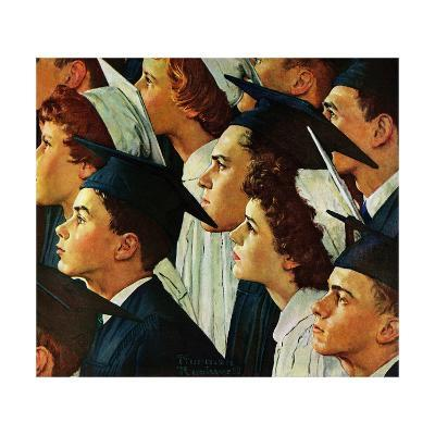 Bright Future Ahead-Norman Rockwell-Giclee Print