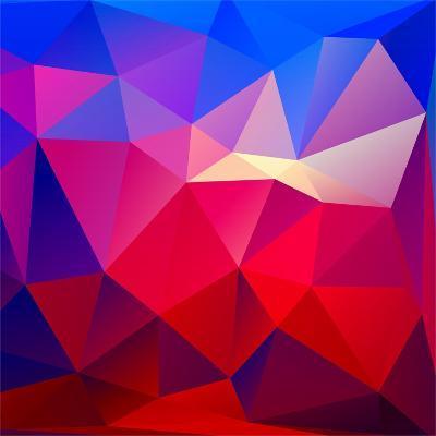 Bright Geometric Background- Bellenixe-Art Print