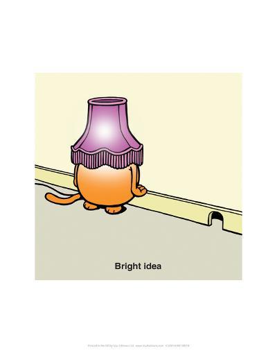 Bright Idea - Antony Smith Learn To Speak Cat Cartoon Print-Antony Smith-Art Print