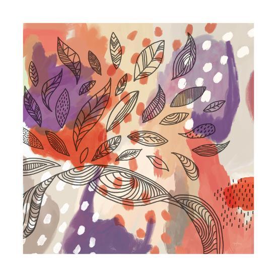 Bright Life I Red Yellow Line Crop--Art Print