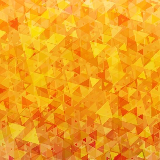 Bright Orange Scattered Triangles Background-Enka Parmur-Premium Giclee Print