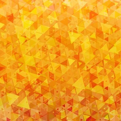 Bright Orange Scattered Triangles Background-Enka Parmur-Art Print