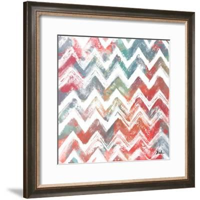 Bright Rustic Chevron-Patricia Pinto-Framed Art Print