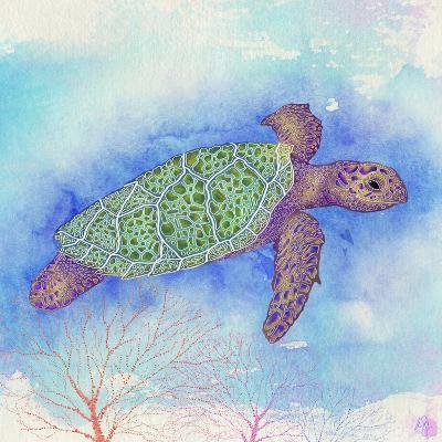 Bright Sea turtle-Kimberly Glover-Giclee Print