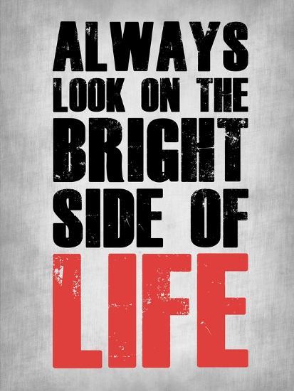 Bright Side of Life  Grey-NaxArt-Art Print