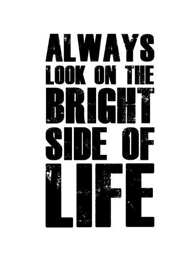 Bright Side of Life  White-NaxArt-Art Print