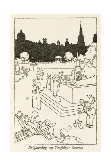Brightening Up Trafalgar Square-William Heath Robinson-Giclee Print