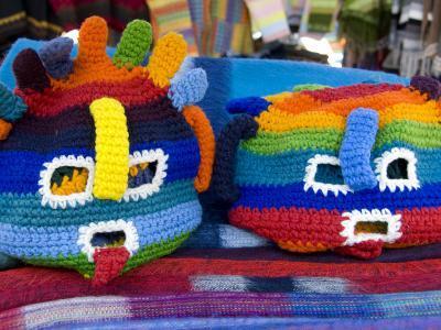 Brightly Colored Ecuadorian Knit Handicrafts Otavalo Market