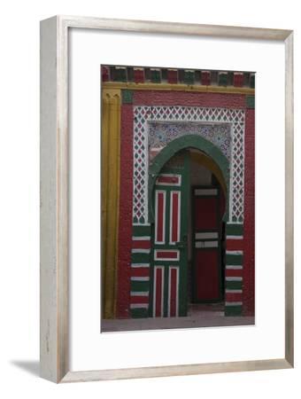 Brightly-coloured door-Natalie Tepper-Framed Photo