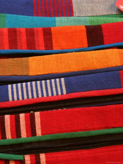 Brightly Coloured Hand-Loomed Fabrics at Barefoot, a Textile and Homewares Retailer-Greg Elms-Photographic Print