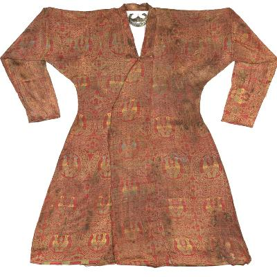 Brightly Coloured Seljuk Lampas Robe, Central Asia, 11th - 12th Century--Photographic Print