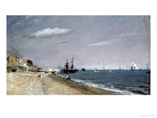 Brighton Beach with Colliers-John Constable-Giclee Print