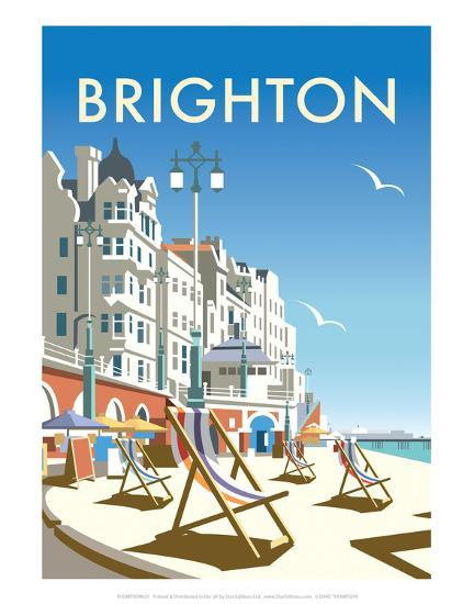 Brighton - Dave Thompson Contemporary Travel Print-Dave Thompson-Art Print