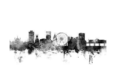 Brighton England Skyline-Michael Tompsett-Art Print