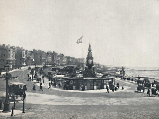 'Brighton - Entrance to the Aquarium, Showing the Chain Pier', 1895-Unknown-Photographic Print