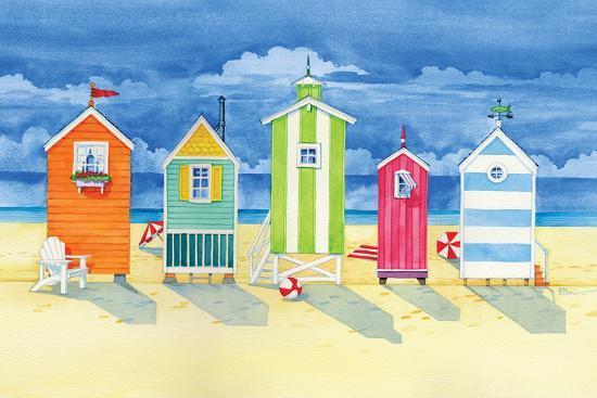 Brighton Huts-Paul Brent-Premium Giclee Print