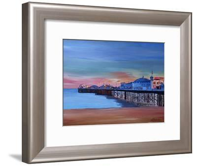 Brighton Pier Seaview Sunset-M Bleichner-Framed Art Print