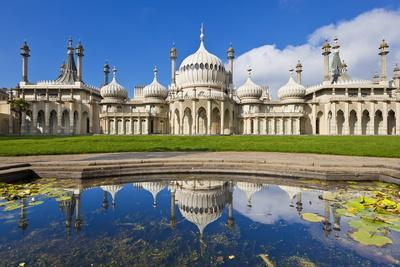 Brighton Royal Pavilion with Reflection, Brighton, East Sussex, England, United Kingdom, Europe-Neale Clark-Photographic Print