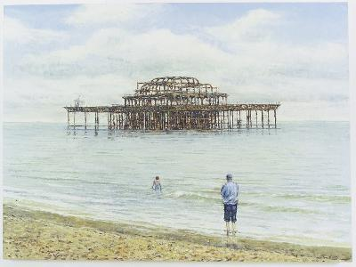 Brighton West Pier, 2004-Tom Young-Giclee Print